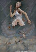 汪建国抽象油画《隐形的翅膀》欣赏 下载