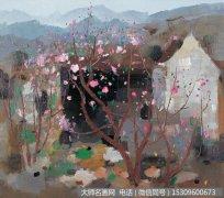 吴冠中抽象油画《桃花季节》赏析