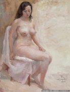 魏景山油画人体《女人体》欣赏
