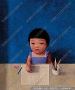刘野油画作品《小画家》欣赏下载