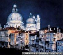 陈逸飞风景油画《威尼斯风景》欣赏
