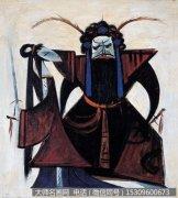 林风眠油画作品《霸王别姬》欣赏