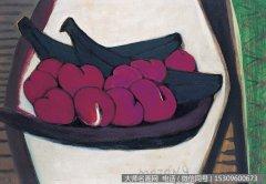 贺慕群静物油画《水果》欣赏