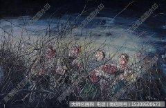 曾梵志油画抽象《无题07-10-8》欣赏下载