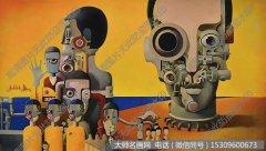 李天易油画抽象《遗失的夕阳》欣赏下载