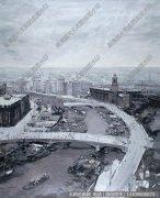 罗郎油画风景《苏州河母亲河》欣赏下载