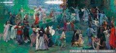 张红年油画作品《春之祭》欣赏