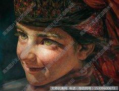 燕娅娅油画人物《努尔古丽》欣赏下载