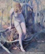 张红年人体油画《夏日的乌兹达克》欣赏下载