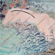 赵梦歌抽象油画《蒹葭苍苍》欣赏下载