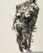 周春芽抽象油画《女人体》欣赏