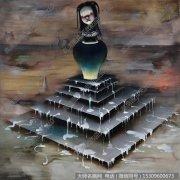 陈可油画抽象《六层塔》欣赏下载