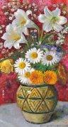 颜文樑花卉油画《百合花》欣赏