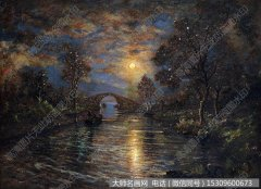 颜文樑风景油画《苏州桃花坞》欣赏下载