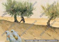 全山石风景油画《红柳》欣赏下载