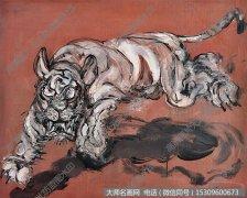 曾梵志抽象油画《行虎》欣赏下载