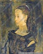 李贵男油画人物《戴耳环的女孩》欣赏下载