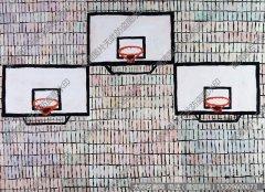 秦琦静物油画《三个篮板》欣赏下载