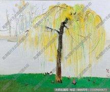 吴冠中风景油画《春雨》欣赏下载