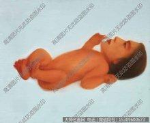马六明油画作品《婴儿 No.2》欣赏下载