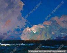 何建成风景油画《远方的云》欣赏下载
