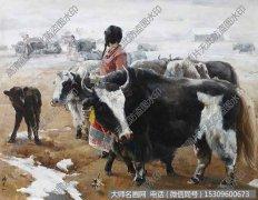杨克山风景油画《牧女》欣赏下载