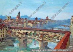方君璧风景油画《佛罗伦萨风景》欣赏下载