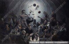尚温油画作品《诸如西西弗斯的劳役》高清大图下载