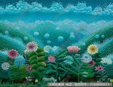 王亚南花卉油画作品《雨后山谷》高清大图下载